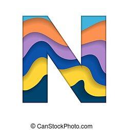 barwny, litera n