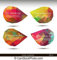 barwny, mowa, bańki, ., wektor, ilustracja, dla, twój, handlowy, website.