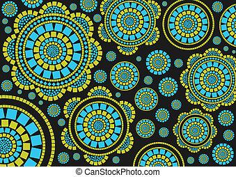 barwny, mozaika, tło
