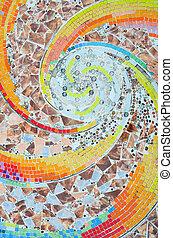 barwny, mozaika