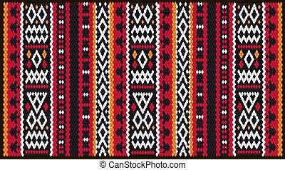 barwny, ozdoba, kilim, tradycyjny, orientalny, mozaika, kilim, geometryczny, lud