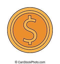 barwny, pieniądz, projektować, ikona, pieniądze