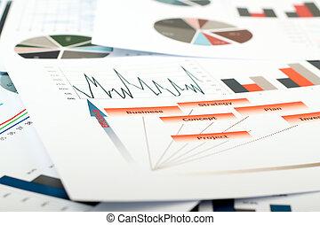 barwny, pojęcia, finansowy, handlowy donoszą, roczny, planowanie, kierownictwo, projekt, budżet, wykresy, handel, wykresy, tło, praca badawcza, wykształcenie