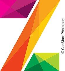barwny, projektować, litera, logo, z, ikona