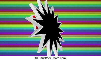 barwny, przeciw, komik, sztuka, wolny, tekst, tło, hukiem