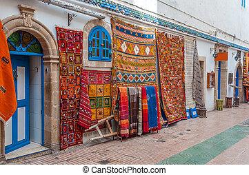 barwny, safian, sprzedaż, medyna, orientalny, afryka, ...