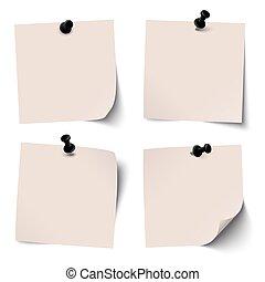 barwny, szpilka, igła, zbiór, lepki, czarnoskóry, papiery