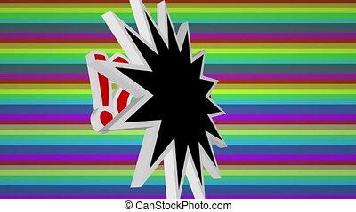 barwny, sztuka, hukiem, przeciw, tekst, ooops, komik, tło