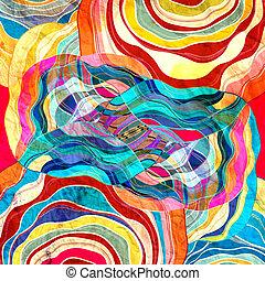 barwny, tło, abstrakcyjny