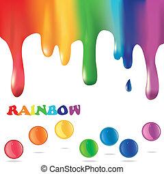 barwny, tło, malować