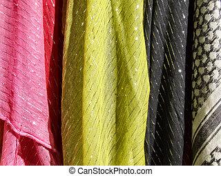 barwny, tekstylny, -, materiał, kiereszuje