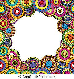 barwny, ułożyć, z, orientalny, motywy
