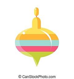 barwny, whirligig, zabawka, obiekt, z, niemowlę, pokój, szczęśliwy, dzieciństwo, sprytny, ilustracja