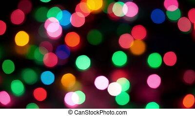 barwny, -, zamazany, światła, tło, boże narodzenie, hd