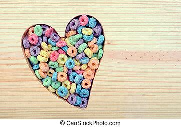 barwny, zboże, kochający