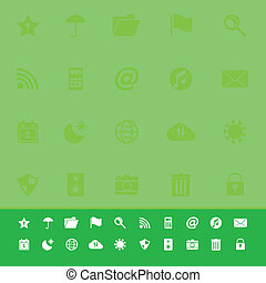 barzinhos, ícones, cor, ferramenta, experiência verde