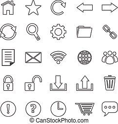barzinhos, ícones, ferramenta, fundo, linha, branca