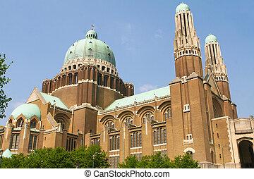 basílica, bruselas, koekelberg