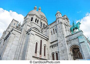 basílica, coeur, sacre, en, montmartre, en, parís