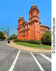 basílica, de, st., lawrence, asheville, carolina norte, usa.