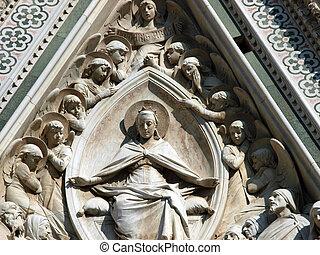 basílica, -, del, santa, fiore, florença, maria