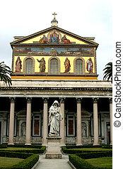 basílica, paul, paredes, santo, exterior