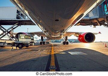 bas affichage angle, de, les, avion