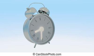 bas, animé, dénombrement, horloge