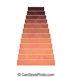 bas, escalier, polygone