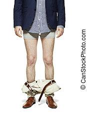 bas, homme, pantalon