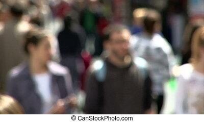 bas, marche, gens rue