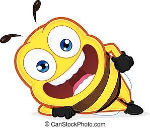 bas, mensonge, abeille