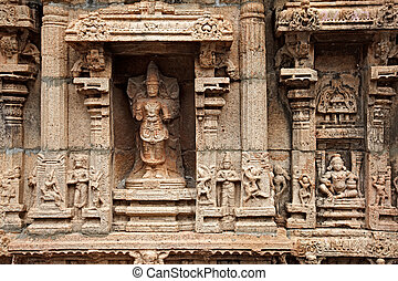bas, nadu, hindu, sri, indien, tiruchirappalli, reliefes,...