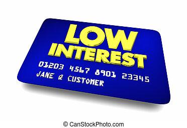 bas, option, cheapest, illustration, choix, carte de débit, intérêt, mieux, 3d