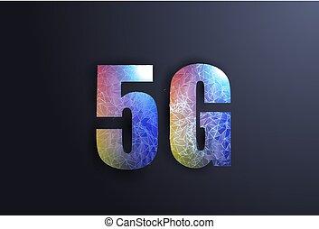 bas, réseau, technology., site, poly, sans fil, systèmes, internet, 5g, 3d, style., design.