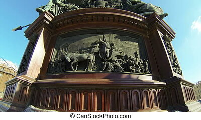 Bas-relief at the monument to Emperor Nicholas I in St. Petersburg