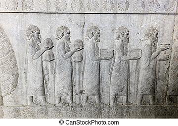 Bas-relief in Persepolis, Iran