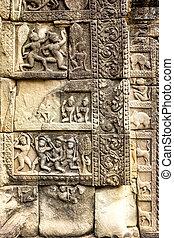 Bas-relief in Prasat Bayon