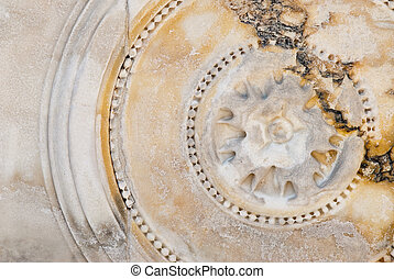 bas-relief, marmer, circulaire