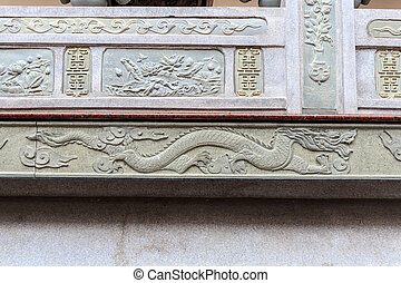bas Relief of chinese dragon