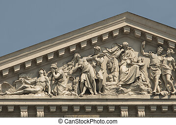 bas-relief on the pediment of the Lviv opera