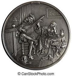 Bas-relief The Lute Player