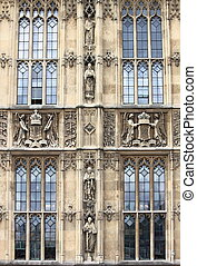 Bas-reliefs in Westminster Palace. London, UK