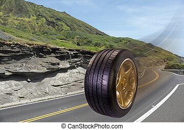bas, road., conduite