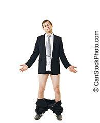 bas, sien, homme, pantalon