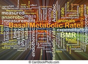 basal, concepto, metabolic, tasa, bmr, encendido, plano de fondo