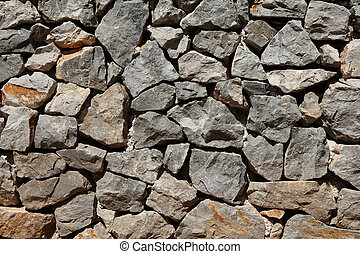 Basalt rock wall background - stone wall surface pattern