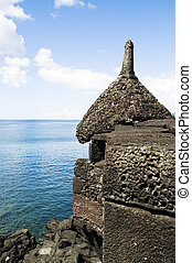 Basalt turret - Turret of an ancient fortress in Pico...
