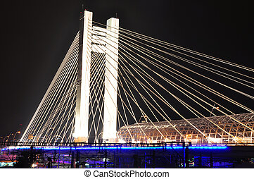 Basarab bridge, Bucharest, Romania - Basarab bridge at...