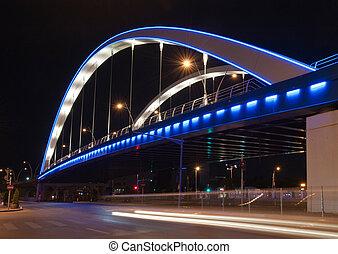 Basarab bridge in the night